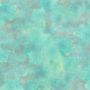 Aqua Marble Texture Fabric - Kaleidoscope Collection