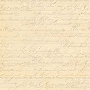 Cream Script Fabric La Vie En Rose Collection by Santoro London - Mystic Sunset