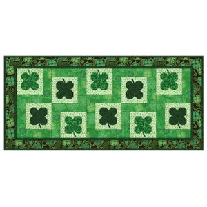 Lucky Clovers Table Runner Pattern - Mystic Sunset