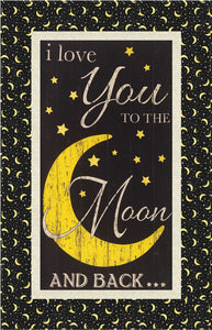 I Love You To The Moon and Back Wallhanging Quilt Pattern - Mystic Sunset