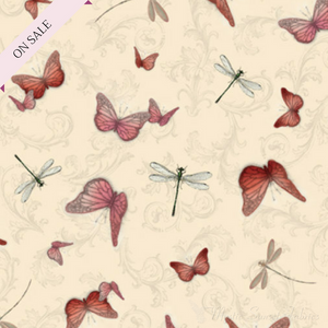 Butterflies & Dragonflies - La Vie En Rose 24262-E - Mystic Sunset