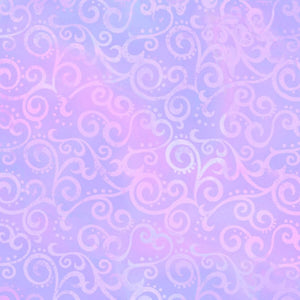 Lilac Ombre Scroll Fabric 24174-L - Mystic Sunset
