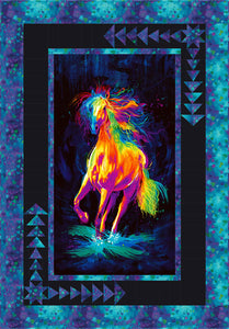 Painted Horse Around The Bend Quilt Pattern - Mystic Sunset