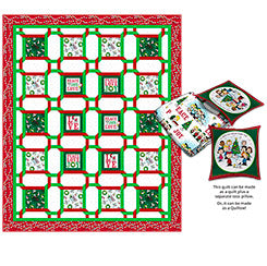 Peace, Love, Joy Quilt Pattern + Pillow Pocket - Mystic Sunset