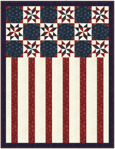 Tonga Patriot Quilt Pattern - Mystic Sunset