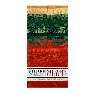 "Island Batik Season's Splendor Strip Pack (2.5"")"