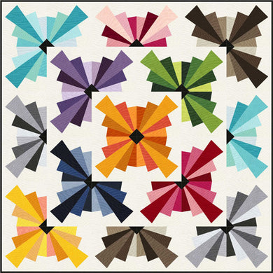 Spin Basic Quilt Pattern - Mystic Sunset