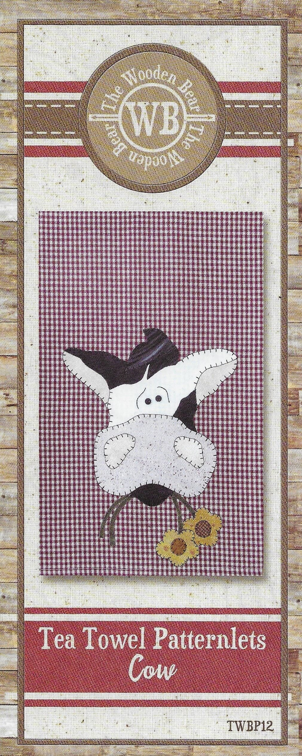 Cow Tea Towel Applique Pattern by The Wooden Bear TWBP12 - Mystic Sunset