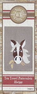 Horse Tea Towel Applique Pattern by The Wooden Bear TWBP37 - Mystic Sunset