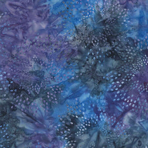Celestial Star Drops Batik Fabric - Tonga Jewel Jade Collection - Mystic Sunset