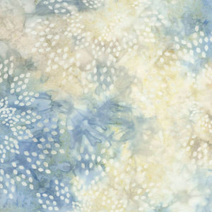 Stone Star Drops Batik Fabric - Tonga Wallflowers Collection - Mystic Sunset