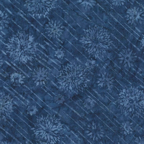 Shooting Stars Valor Batik Fabric - Tonga Jewel Jade Collection - Mystic Sunset