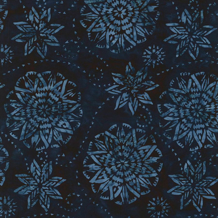 Midnight Dream Batik Fabric - Tonga Jewel Jade Collection - Mystic Sunset
