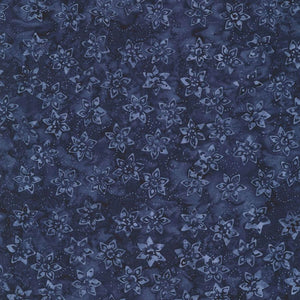 Indigo Daffodil Batik Fabric - Tonga Jewel Jade Collection - Mystic Sunset