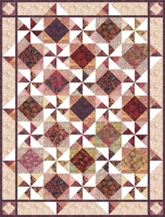 Stroll In Venice Quilt Pattern - Mystic Sunset
