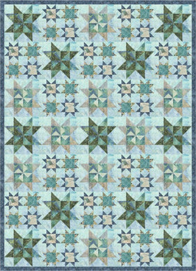 Stars In The Water Quilt Pattern - Mystic Sunset