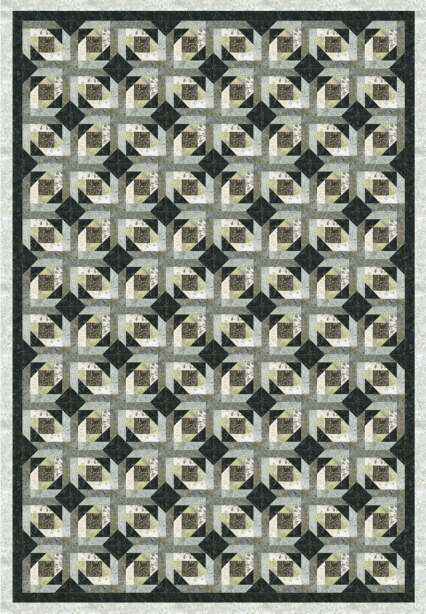 Tonga Graphite Quilt Pattern - Mystic Sunset