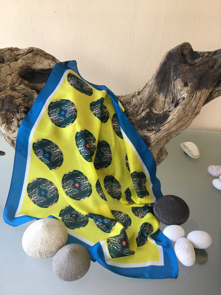 'Round Shells in Yellow' Scarf