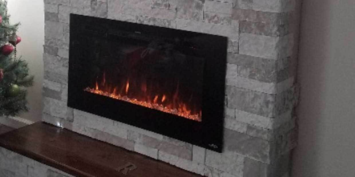 New Electric Fireplace Widths, Frame Colors and Built-in Technology