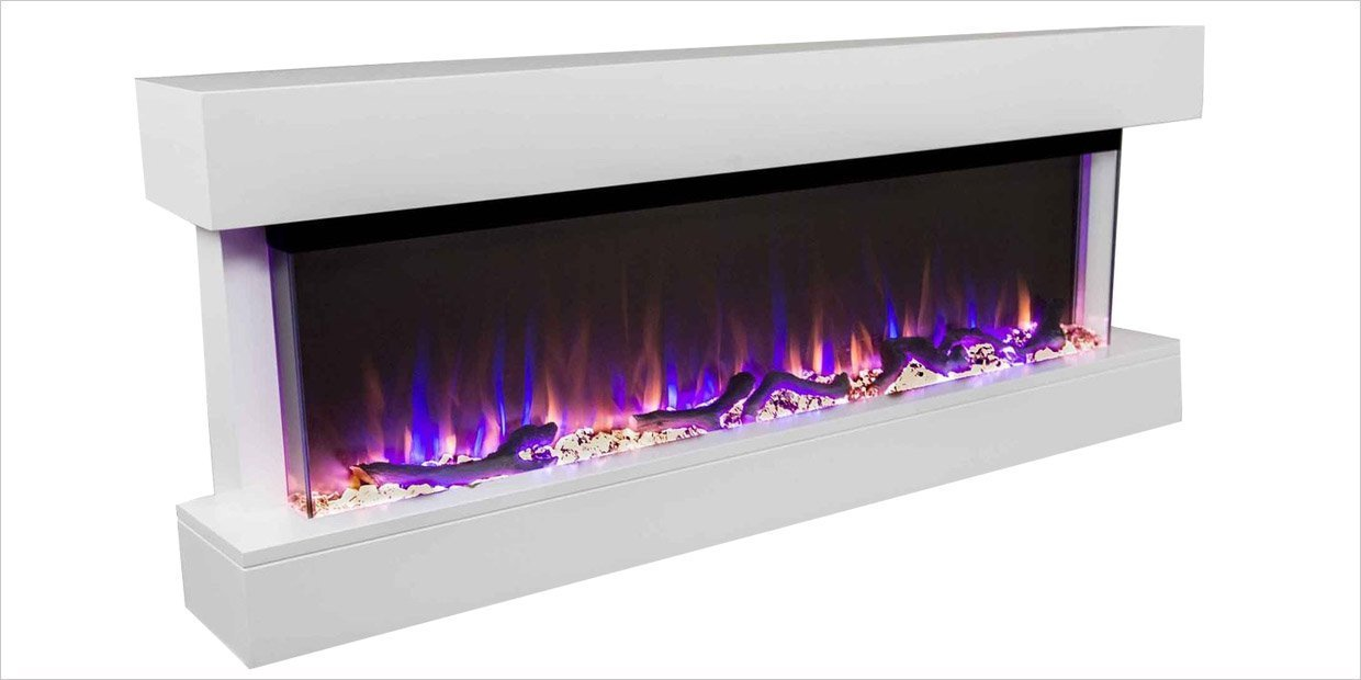 Meet the Chesmont: An Easy Wall Mount Frameless Electric Fireplace With a Fully Finished Mantel