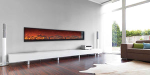 In Full View: Meet the Frame-less Emblazon Electric Fireplace Collection
