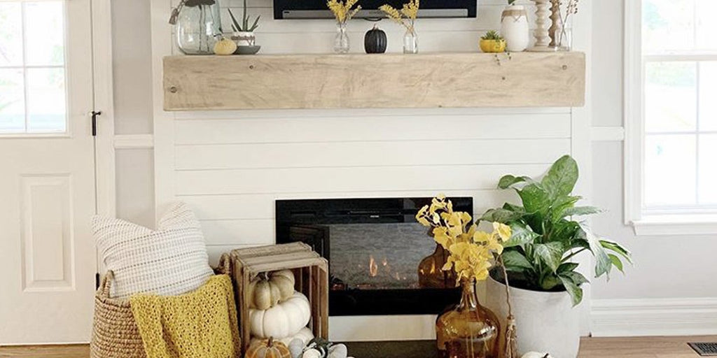 Fall Fireplace Decor: Boo-tiful Halloween Electric Fireplace Style