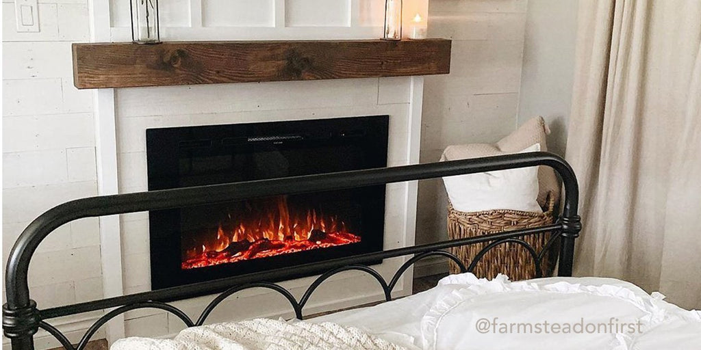 DIY Electric Fireplace Installations in Modern Farmhouse Style