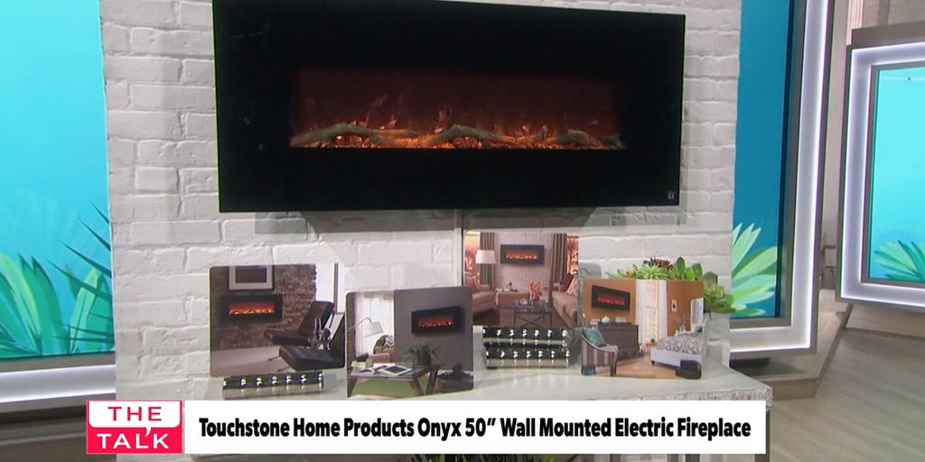 Hottest Entertaining Essential: Touchstone Onyx Electric Fireplace Featured on CBS Network The Talk