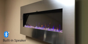 Bluetooth® Speaker and 3-Color Flames: Meet the Touchstone AudioFlare Electric Fireplace