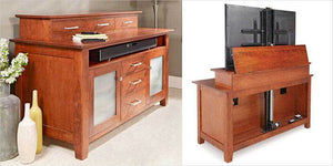 Build a TV Lift Cabinet With the Woodsmith® Project Plan