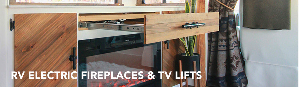 RV Electric Fireplaces and TV Lifts