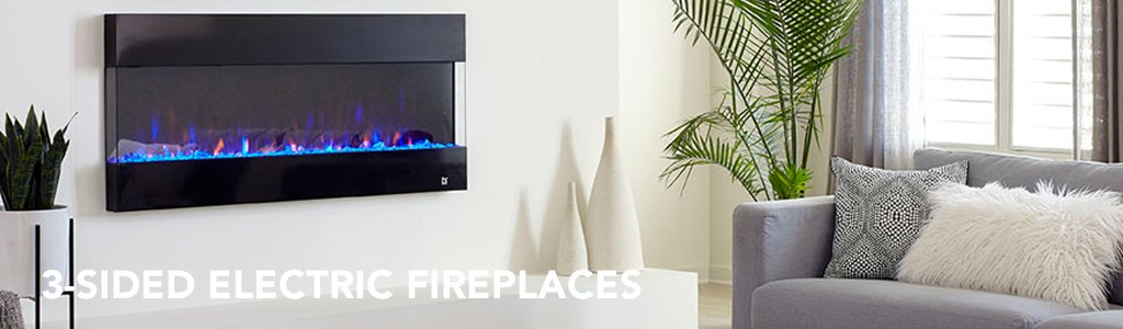 3 Sided Electric Fireplaces