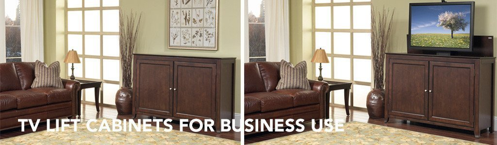 Hidden TV Cabinets for Funeral Homes, Churches and Businesses