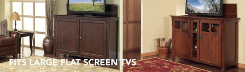 all tv lift cabinets for big screen tvs