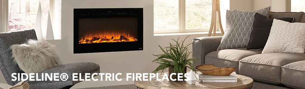 Sideline® Recessed Electric Fireplaces