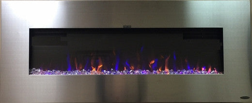 3-Color Flame Display AudioFlare Electric Fireplace