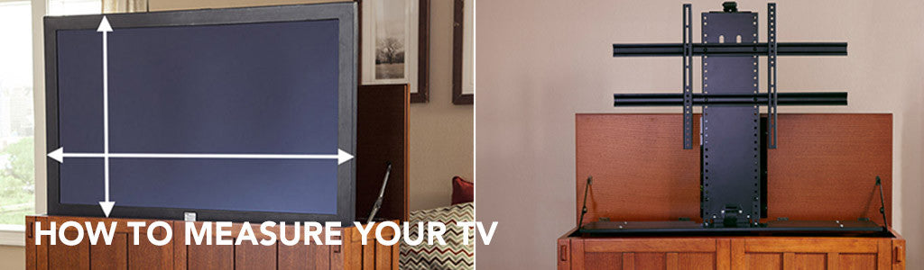 How To Measure Your Tv For The Best Touchstone Tv Lift Cabinet Fit