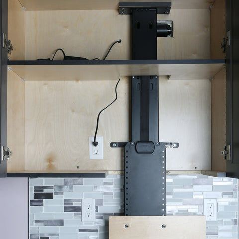 Hidden Kitchen Storage: How to Install a Motorized Lift For Small