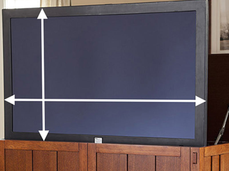 How to measure your TV to fit in a Touchstone TV Lift Cabinet