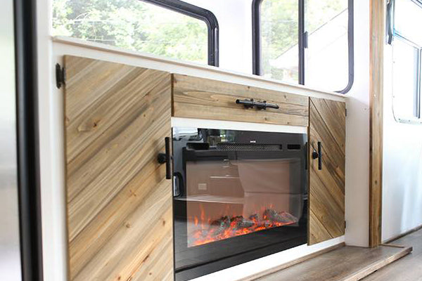 Install a Touchstone electric fireplace anywhere, including an RV