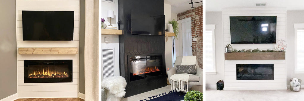 Safely mount a TV above a Touchstone Electric Fireplace
