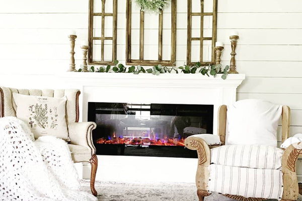 Touchstone Home Products DIY fireplace with @fallonshomestead