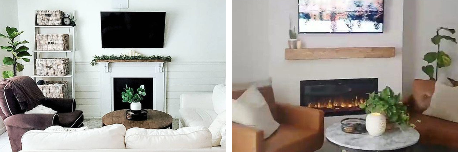 SimpleMadePretty DIY fireplace transformation with Touchstone Sideline Elite 42 Electric Fireplace