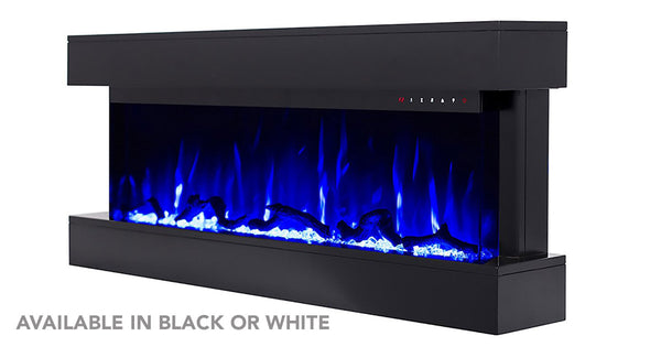 Touchstone Chesmont Electric Fireplace with Mantel is available in black or white