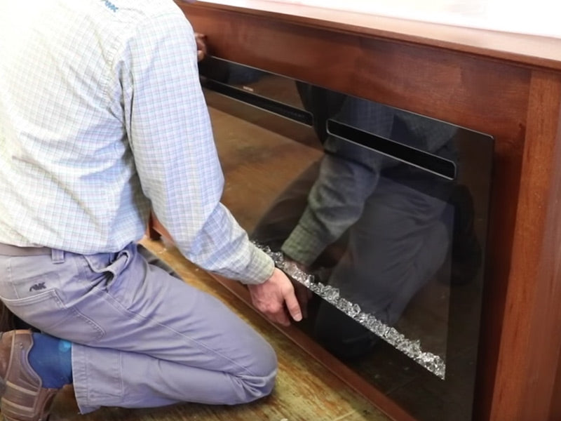 Build your own electric fireplace cabinet with Jon Peters building plans