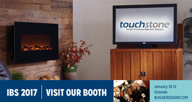 Touchstone Home Products TV Lifts and Electric Fireplaces at 2017 International Builders Show