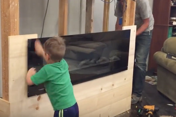 Touchstone Electric Fireplace DIY by the Farmer's Wife