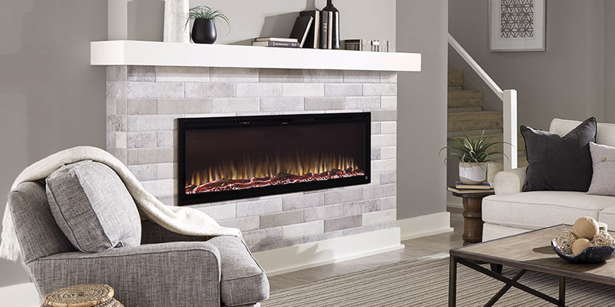 Touchstone Sideline Elite Smart Electric Fireplace is wi-fi enabled and easy to add to a smart home hub