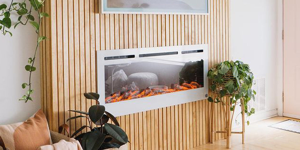 Sideline 50 White Electric Fireplace