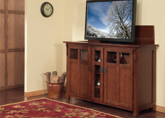 Arts Crafts And Mission Style Tv Lift Cabinets Touchstone Home